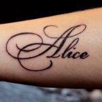 Татуировка с именем Alice