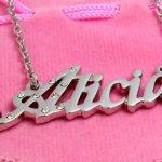 Цепочка с именем Алисия латинницей
