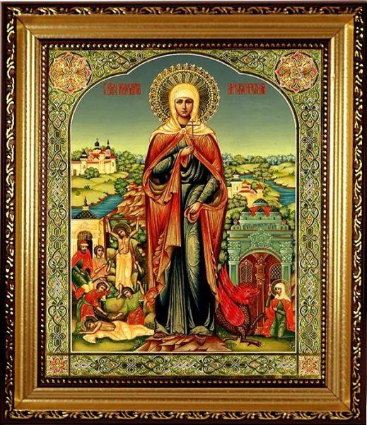 Икона святой Марины Антиохийской