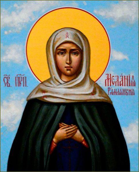 Икона святой Мелании Римской