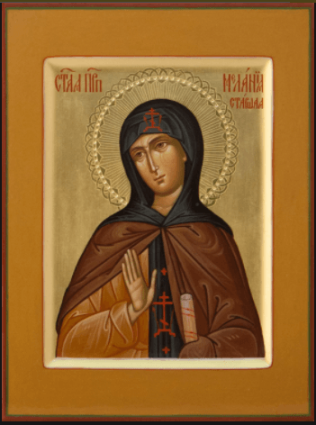 Преподобная Мелания Старшая
