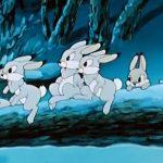 Кадр из мультфильма «Храбрый заяц»