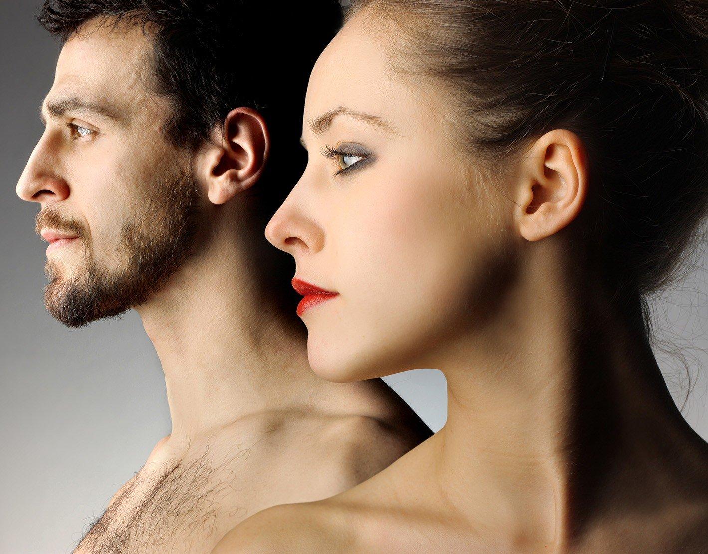 Постер мужчина и женщина фото
