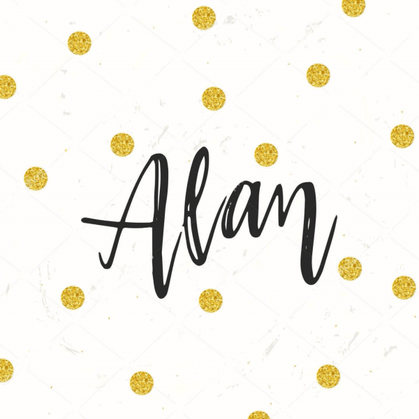 Надпись Alan