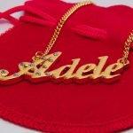 Золотое украшение с именем Адель