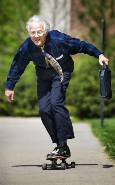 Энергичный дедушка