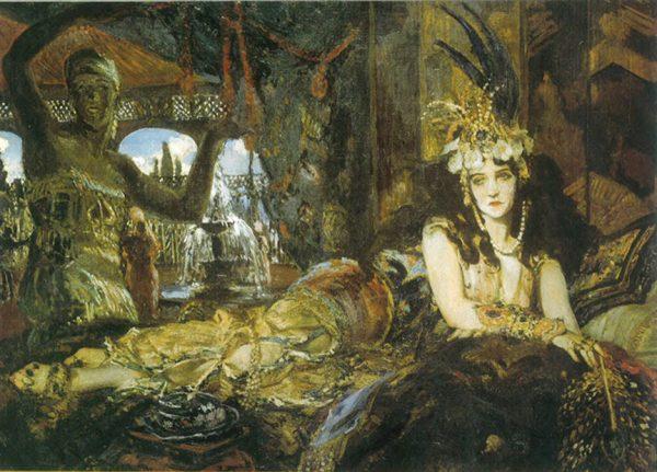 Ида Рубинштейн в образе Шахерезады, художник Жак-Эмиль Бланш
