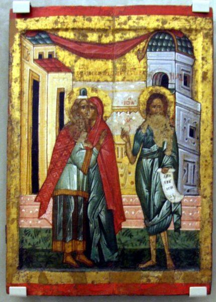 Икона «Зачатие Иоанна Крестителя»