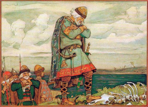 Иллюстрация к произведению А.С.Пушкина «Песнь о Вещем Олеге»