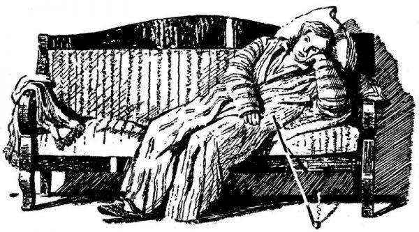 Иллюстрацию к произведению И. А. Гончарова «Обломов»