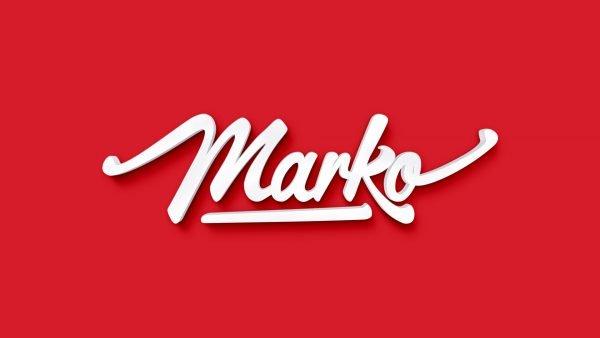 Надпись Marko