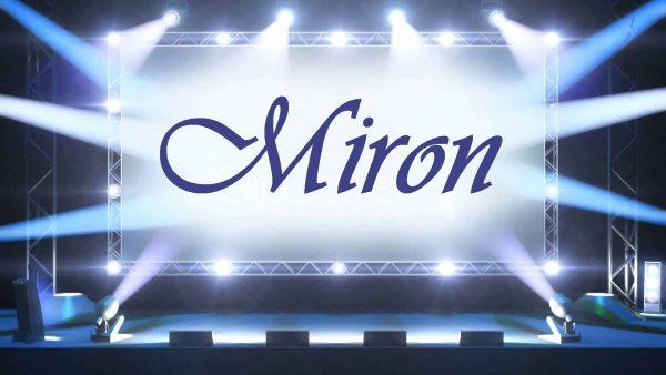 Надпись Miron
