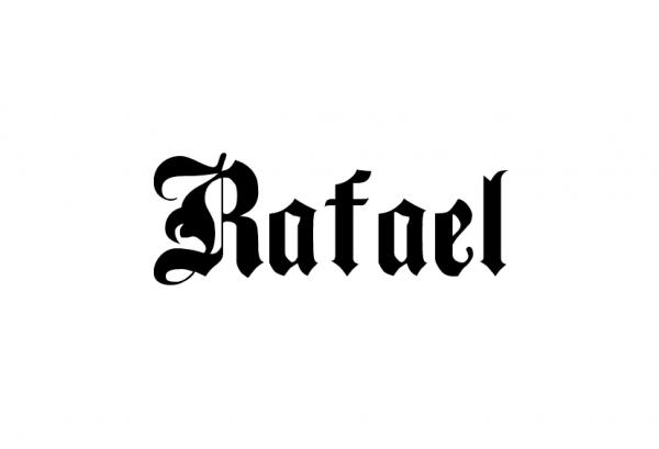 Надпись Rafael