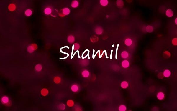 Надпись Shamil