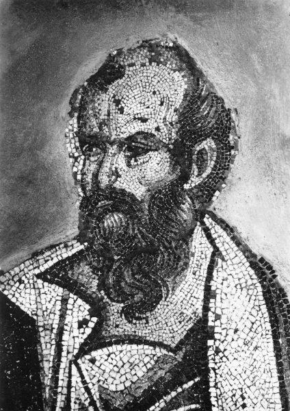 Пророк Елисей. Мозаика