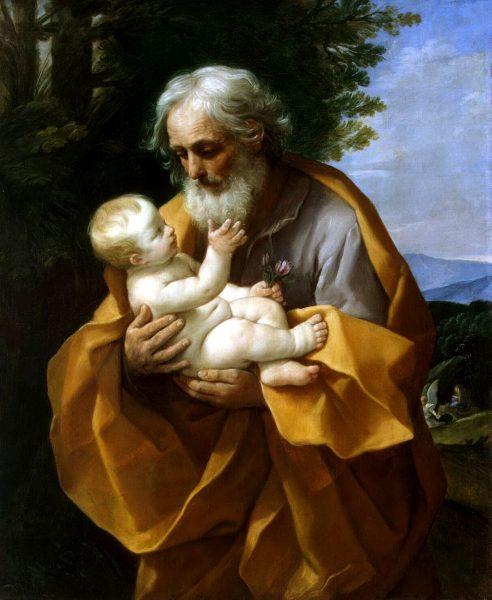 Святой Иосиф Обручник с младенцем Иисусом Христом