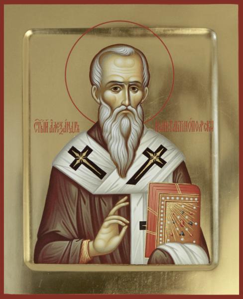 Святой преподобный Александр Константинопольский