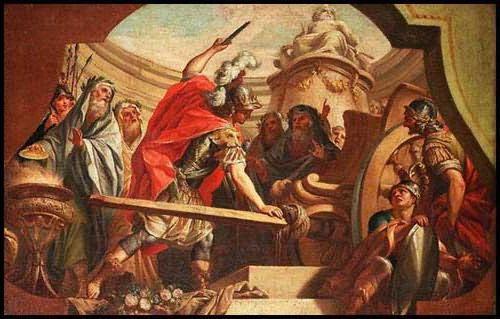 Александр Македонский рубит «гордиев узел»