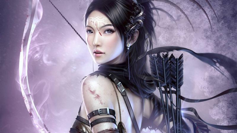 Арт: девушка-воин