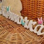 Декоративные буквы в форме имени Кариночка