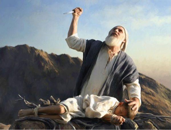 Иллюстрация к легенде о принесении Ибрахимом сына в жертву богу