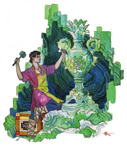 Иллюстрация к сказке П. П. Бажова «Каменный цветок»
