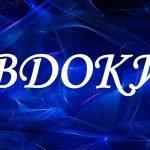Имя Евдокия на синем фоне с дымом