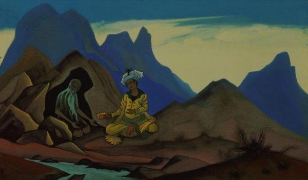 Картина Рериха « Искандер и отшельник»