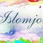 Картинка с именем Islomjon на фоне сказочного пейзажа