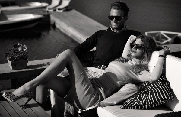 Мужчина и женщина отдыхают