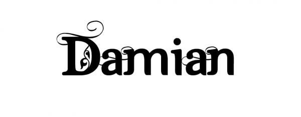 Надпись Damian