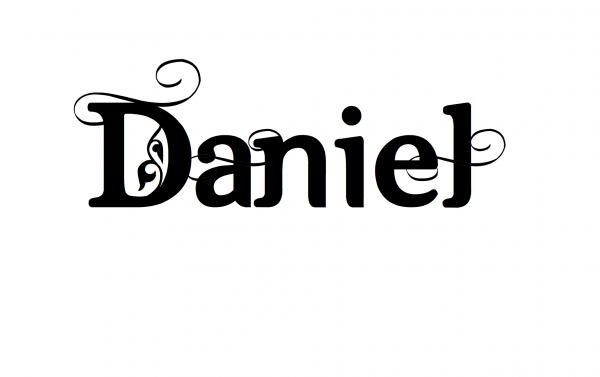 Надпись Daniel