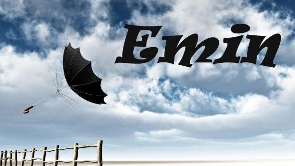 Надпись Emin