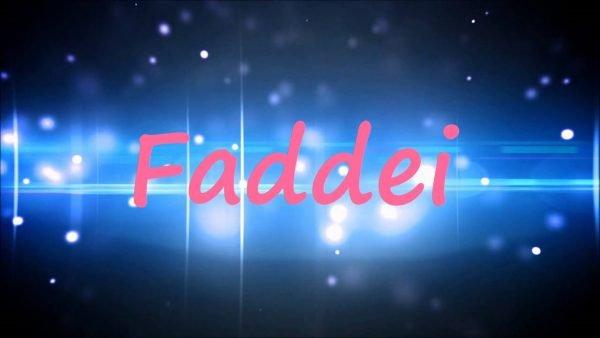 Надпись Faddei