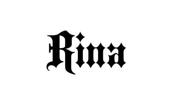Надпись Rina