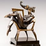 Скульптура Арсена Аветисяна «Королева Треф»