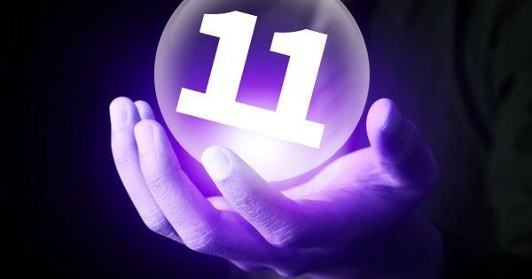 Число 11 в сияющем шаре