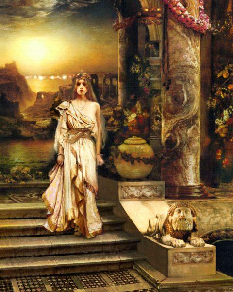Девушка во дворце