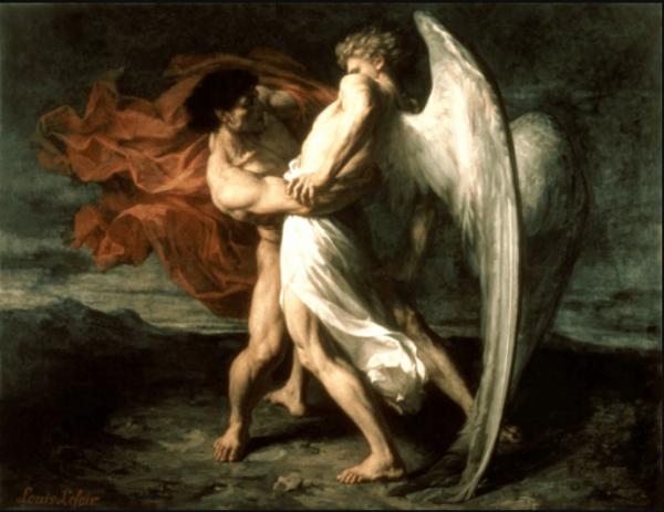 Иллюстрация к библейской легенде «Иаков борется с Ангелом»