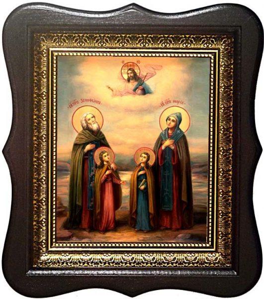 Преподобные Ксенофонт, Мария и и их дети Иоанн и Аркадий