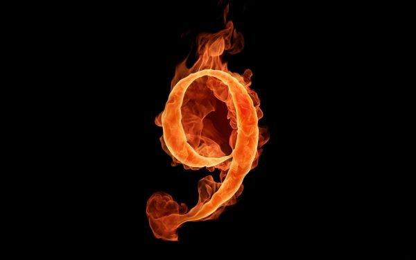 Пылающая цифра 9