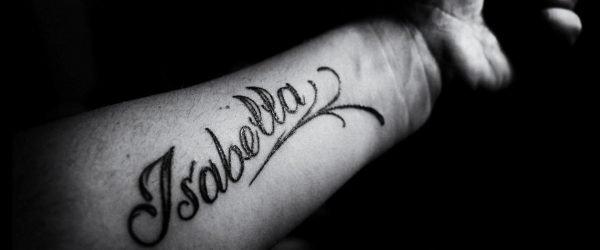 Татуировка с именем Изабелла