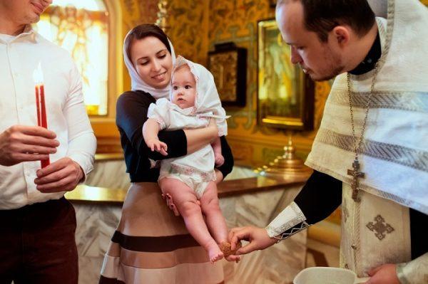 Крещение девочки