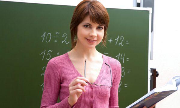 Девушка учитель